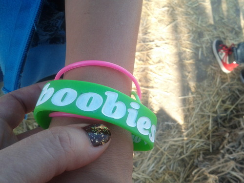 """A bracelet that reads """"I [heart] boobies"""" was confiscated at Westridge Elementary in Provo. Courtesy Jena van Frankenhuijsen"""