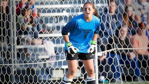 Courtesy BYU Erica Owens, a graduate of Highland High School, is the starting goalkeeper for the BYU women's soccer team.