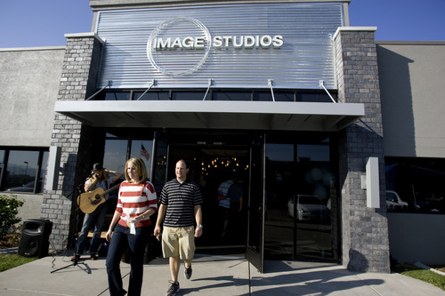 Kim Raff | The Salt Lake Tribune People attend the grand opening of Image Studios in Sandy, Utah on September 29, 2012. Image Studios is a new-concept salon where it's hair and body-care professionals run their own businesses out of the studios instead of leasing the space. They have several locations in the Salt Lake Valley