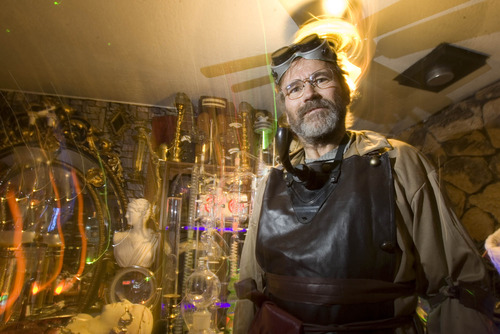 Paul Fraughton | The Salt Lake Tribune James Gamble stands inside his West Valley City home, which he transformed into a mad scientist's laboratory.