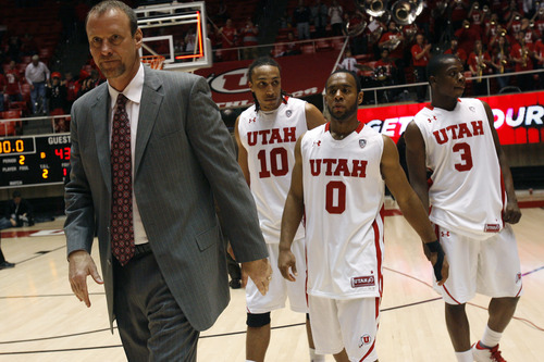 Tribune file photo Utah finished next-to-last in its inaugural Pac-12 men's basketball season, but according to the media that covers the conference, the Utes have no place to go but up this season.