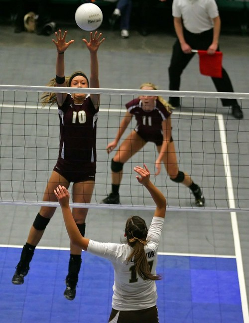 Courtesy photo Kizzy Willey of Lone Peak High School at state competitions in the 2011-2012 season.