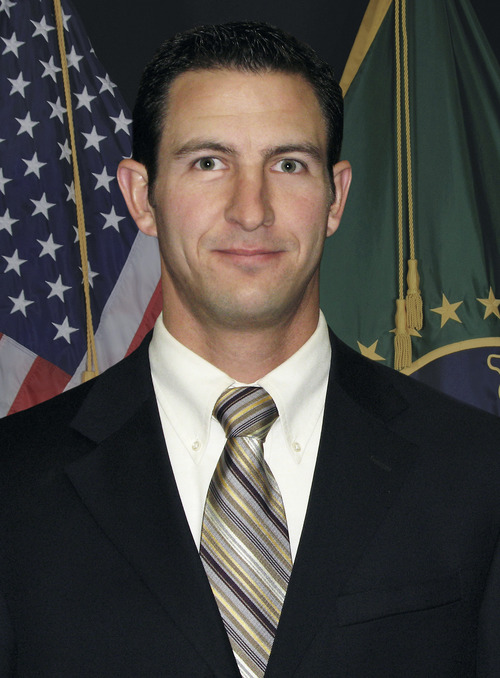 FILE - This undated photo provided by U.S. Customs and Border Protection shows slain Border Patrol agent Nicolas Ivie. The fatal shooting of Ivie and the wounding another U.S. Border Patrol agent near the Arizona-Mexico border may have been a case of friendly fire, a union chief for border agents and law enforcement officials said Friday, Oct. 5, 2012. (AP Photo/U.S. Customs and Border Protection, File)