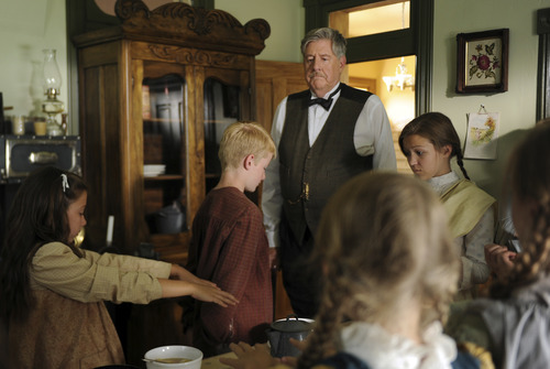 courtesy covenant communications mr crampton edward herrmann inspects the children in his orphanage - Christmas Oranges