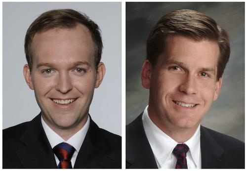 Ben McAdams, Democratic Salt Lake County mayor candidate (left) and Mark Crockett, Republican Salt Lake County mayor candidate.