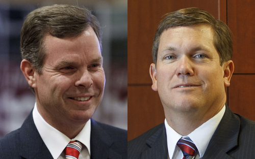 Utah Attorney General candidates John Swallow, left, and Dee Smith.