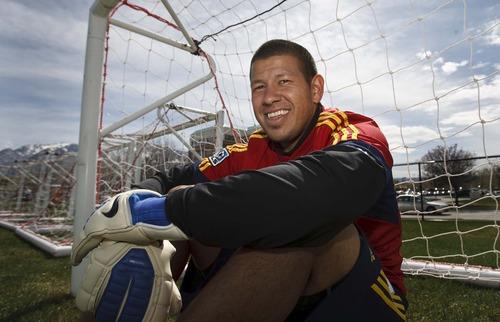 Leah Hogsten  |  The Salt Lake Tribune Real Salt Lake goalie Nick Rimando for Now in Salt Lake, Wednesday, April 11, 2012.