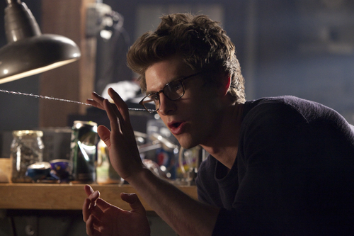 """In this film image released by Sony Pictures, Andrew Garfield portrays Peter Parker and Spider-Man in a scene from """"The Amazing Spider-Man."""" (AP Photo/Columbia - Sony Pictures, Jaimie Trueblood)"""