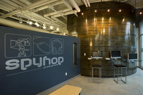The downtown offices of Spy Hop, a nonprofit organization that helps teens share their stories. They are partnering with the Salt Lake County Library to help refugee teens learn how to make a digital documentary to share their stories. Courtesy Spy Hop