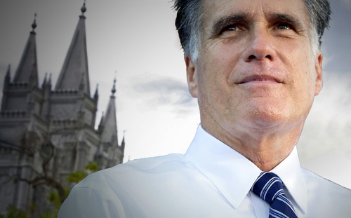 Photo illustration by Jeremy Harmon | The Salt Lake Tribune  Has Mitt Romney's membership in the LDS church helped or hindered his chances to become President of the United States?