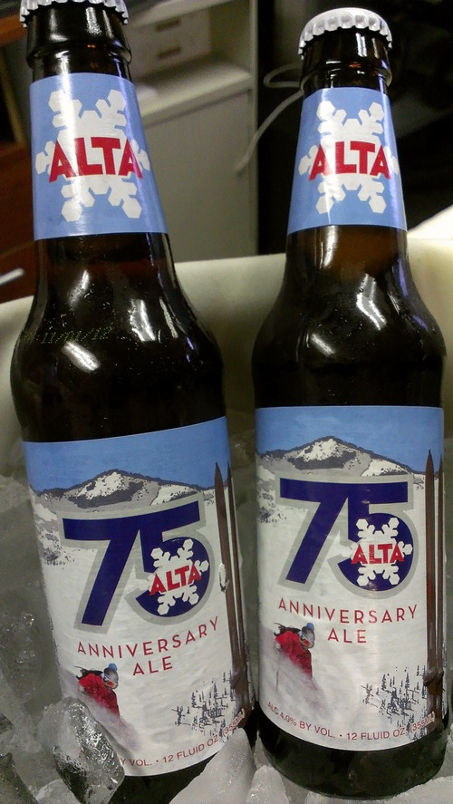 Kathy Stephenson | Salt Lake Tribune Wasatch Brewery in Salt Lake City made this ale in honor of Alta Ski Resort's 75th anniversary.