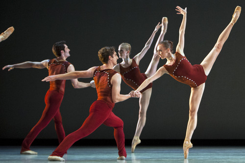 Chris Detrick  |  The Salt Lake Tribune Members of Ballet West perform 'Bolero' during a dress rehearsal at the Capitol Theatre Thursday November 1, 2012.