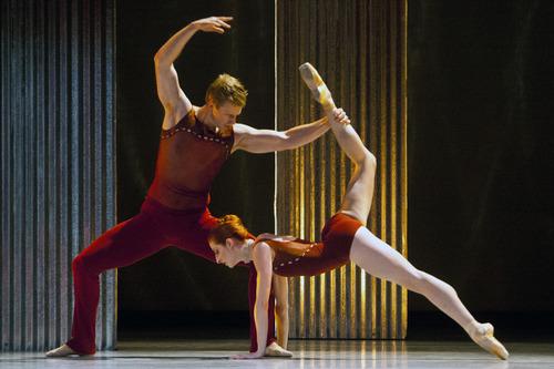 "Chris Detrick  |  The Salt Lake Tribune Members of Ballet West perform ""Bolero"" during a dress rehearsal at the Capitol Theatre Thursday November 1, 2012."