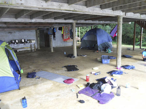 The concrete porch that Utah's Alannah Hall, 16, slept on with her fellow Girl Scouts on an adventure destination trip called Costa Rica Outward Bound. Alannah spent the majority of her trip on a small island learning how to scuba dive. Courtesy photo
