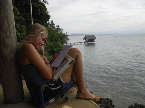 Courtesy photo Alannah Hall, 16, from Taylorsville, Utah, pictured at a harbor on an island in Costa Rica where she went this summer on a Girl Scout adventure destination trip through a program called Costa Rica Outward Bound.
