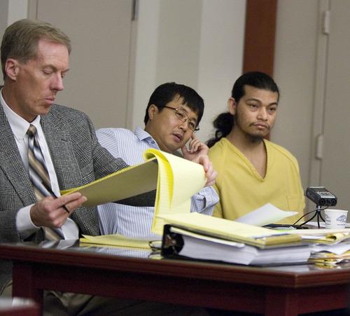 Paul Fraughton  |  Salt Lake Tribune Esar Met listens to a translator during his preliminary hearing on Friday, November 9, 2012. Met is accused of killing 7-year-old Hser Ner Moo in 2008.