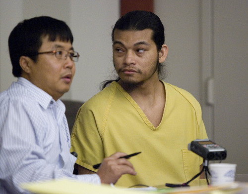 Paul Fraughton  |  The Salt Lake Tribune Esar Met listens to a translator during his preliminary hearing on Friday, November 9, 2012. Met is accused of killing 7-year-old Hser Ner Moo in 2008.
