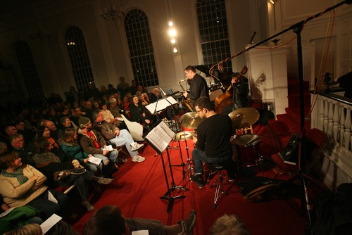 """Kim Raff I The Salt Lake Tribune The Jazz Vespers perform """"A Tribute to the Beatles"""" to a pack audience at the First Unitarian Chruch in Salt Lake City , Utah on December 11, 2011."""