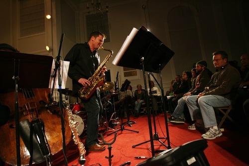 Kim Raff I The Salt Lake Tribune Jazz Vespers saxophonist David Halliday performing in December 2011.