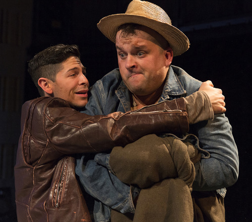 """Courtesy Richard Termine Joseph Midyett, left, and Christopher Michael McFarland will perform John Steinbeck's """"Of Mice and Men,"""" at the Ellen Eccles Theatre, Nov. 16, 2012 at 7:30 p.m."""