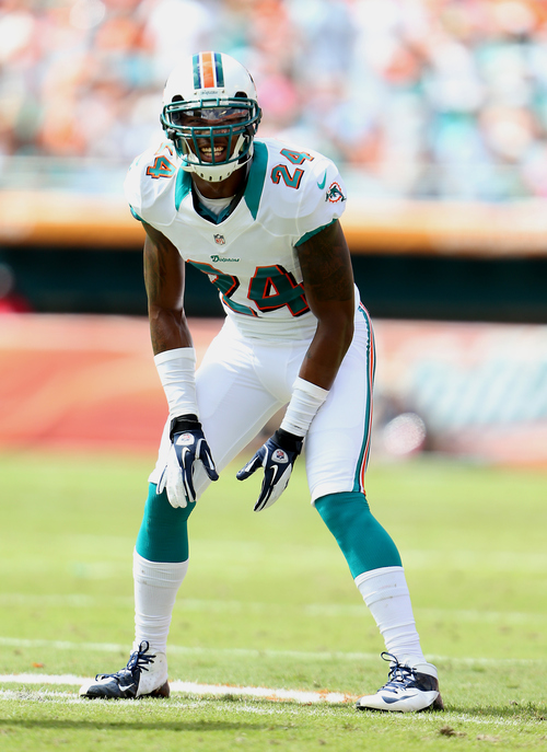 Miami Dolphins Sean Smith(24) during an NFL football game against theSaint Louis Rams on Sunday, October 14,2012 at Sun Life Stadium in Miami. (AP Photo/Tom DiPace)