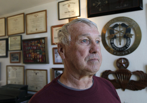 Al Hartmann     The Salt Lake Tribune Patrick Watkins, 74, a Vietnam vet, will be one of the two grand marshals for Taylorsville's Veterans Day parade. Watkins had three tours of duty, received two Purple Hearts, five Bronze Star medals and is up for the military's second highest honor.