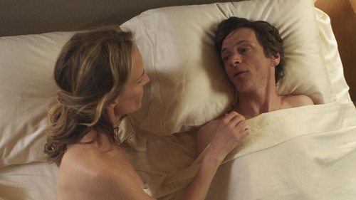 """Helen Hunt (left) and John Hawkes in a scene from """"The Sessions."""" Courtesy Fox Searchlight Pictures"""