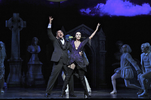 """Broadway musical """"The Addams Family,"""" with Douglas Sills as Gomez and Sara Gettelfinger as Morticia, makes its Salt Lake City premiere Nov. 13-18 at Capitol Theatre. Courtesy Jeremy Daniel"""