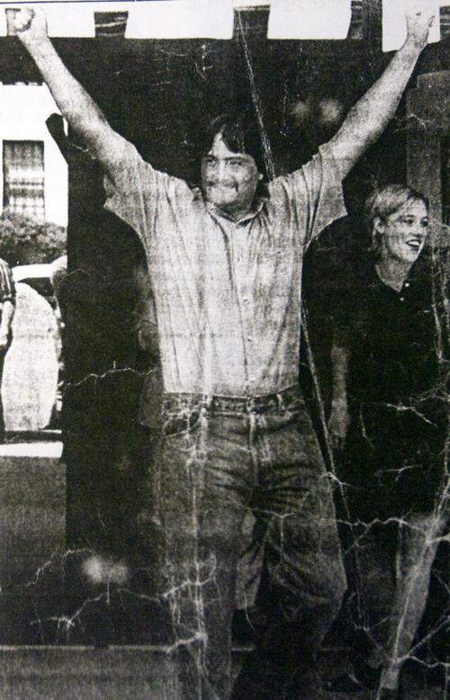 Kim Raff  |  The Salt Lake Tribune Deseret News story when Gressman and Hancock were freed.
