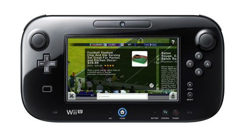 The Nintendo Wii U video game console, coming Nov. 18 for $299. The Nintendo TVii television service, developed by Provo software company, i.TV, allows gamers to watch TV with the Wii U game pad as the remote control. Courtesy image