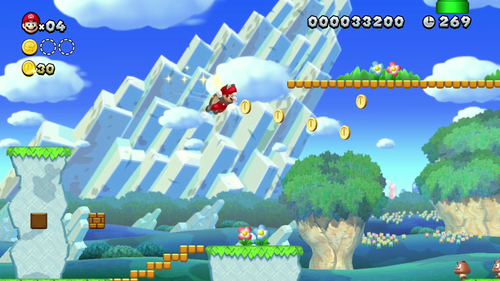 "Screenshot of the ""New Super Mario Bros. U"" for new Nintendo Wii U. Courtesy image"