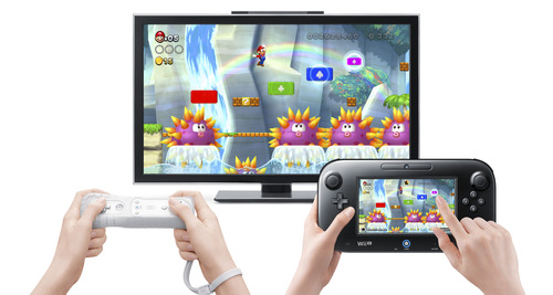 """New Super Mario Bros. U"" playing on the new Nintendo Wii U. Courtesy image"