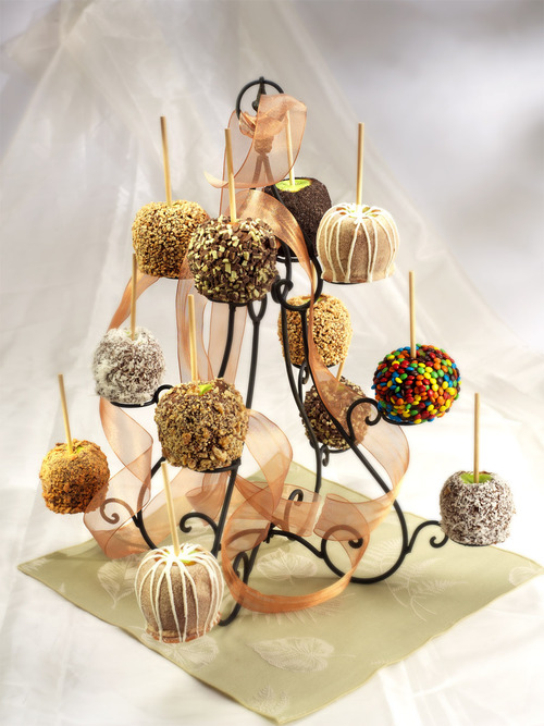 Courtesy photo Candy apples are a specialty at Over the Top Gourmet Cookies in South Jordan.
