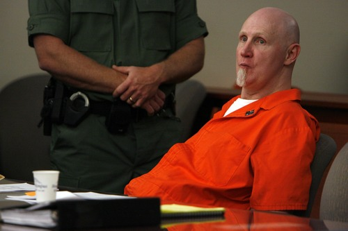 Francisco Kjolseth     Tribune file photo Ronnie Lee Gardner who has been on death row for 24 years appears before Judge Robin Reese at the Matheson Courthouse in Salt Lake City on Friday, April 23, 2010, where Gardner's execution date was set. Gardner has indicated he wants to be executed by firing squad.