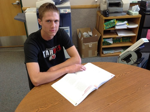Courtesy Canyons School District Jacob Brown, a senior at Hillcrest High School, earned a perfect score on the ACT.