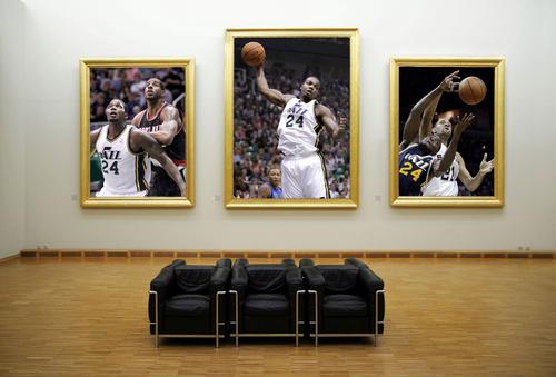 "Photo Illustration by Keith Johnson   The Salt Lake Tribune  Paul Millsap ""The Art of Rebounding"""