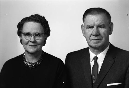 Mr. and Mrs. A.V. Washburn. Photo courtesy Utah State Historical Society