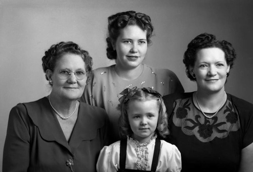 Family group shot. Photo courtesy Utah State Historical Society
