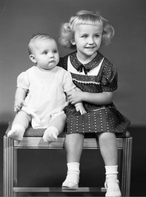 Two children. Photo courtesy Utah State Historical Society