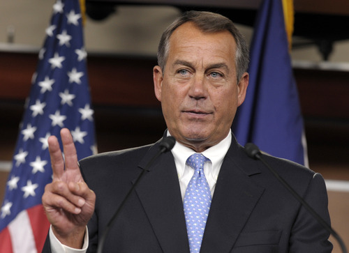 (AP Photo/Susan Walsh) Now that the election is over, attention has turned to how President Barack Obama and congressional leaders such as House Speaker John Boehner, above, intend to deal with the automatic tax increases and spending changes set to kick in on New Year's Day.