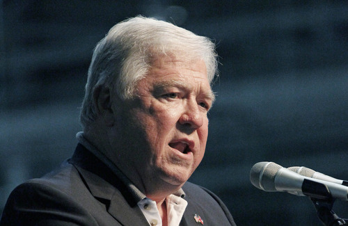 FILE This July 6, 2012 file photo shows former Mississippi Gov. Haley Barbour speaking in Horn Lake, Miss. The Grand Old Party needs to get with the times. That's according to many Republicans who talked of the party's challenges following the GOP's electoral shellacking.  (AP Photo/Rogelio V. Solis, File)