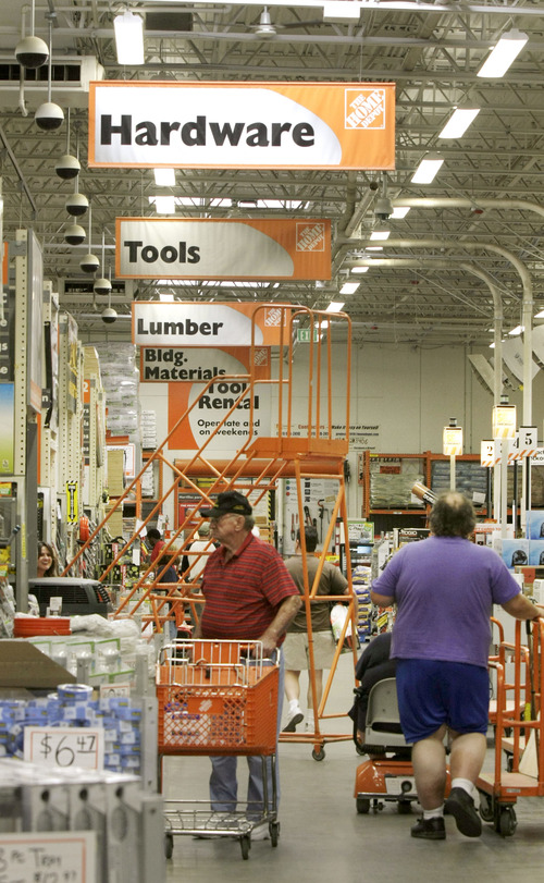 File  |  The Associated Press Home Depot, whose customers are mainly homeowners, is trying to increase sales by extending credit to people who would otherwise have trouble getting it. Last year, the company began offering loans of up to $40,000, and this year it extended its no-interest credit card payment terms.