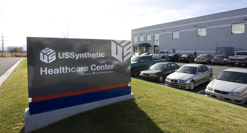 Paul Fraughton | The Salt Lake Tribune The health clinic at US Synthetic in Orem.  Monday, November 19, 2012