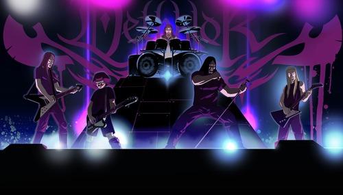 Dethklok as portrayed in the cartoon. Courtesy image