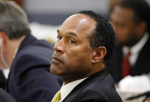 O.J. Simpson appears in court during a trial in Las Vegas, Friday, Sept. 19, 2008.  (AP Photo/Ethan Miller, Pool)