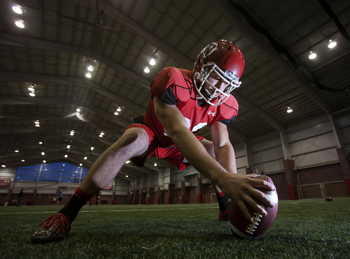 Steve Griffin | The Salt Lake Tribune Utah's Patrick Greene has played in every game since he was a freshman and handled all the snapping duties in the kicking game for 503 snaps to date.