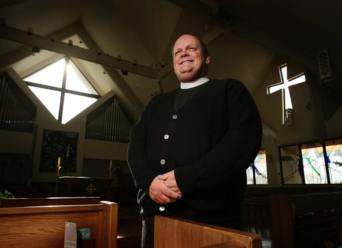 Leah Hogsten  |  The Salt Lake Tribune The Rev. Michael Mayor, of Salt Lake City's All Saints Episcopal Church, Wednesday, Nov. 14, 2012.