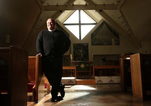 Leah Hogsten  |  The Salt Lake Tribune The Rev. Michael Mayor of Salt Lake City's All Saints Episcopal Church, Wednesday, Nov. 14, 2012.