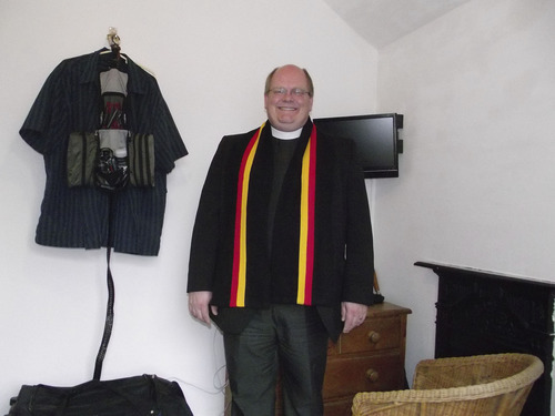 The Rev. Michael Mayor wears his college scarf during his time at Cambridge University. Courtesy Michael Mayor