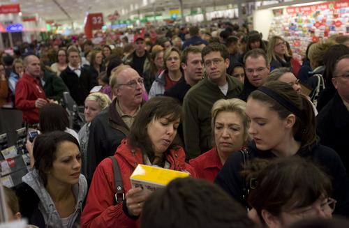 Tribune file photo A huge crowd at Super Target on Black Friday in 2008.